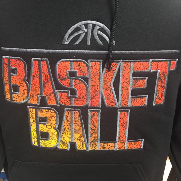 Basketball Applique Image